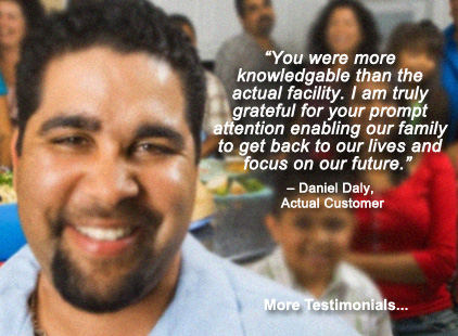 Father reunited with his son after being helped by Action Immigration Bonds