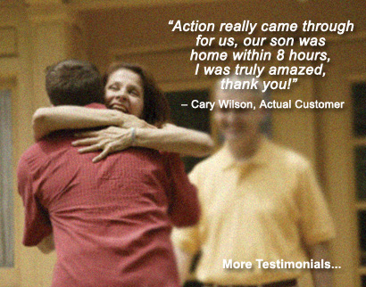 family reunited after being released on an immigration bond