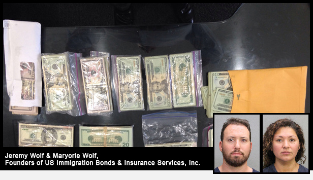 Money stolen by US Immigration Bonds owners Jeremy and Mayorie Wolf